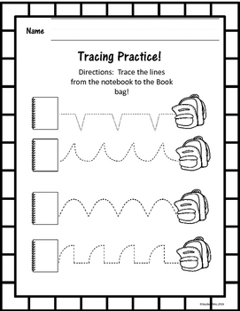 Kindergarten Back to School August and September Math and Literacy Packet