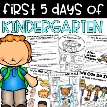 Kindergarten Back to School Backpack: Succeed the First 5 Days of School