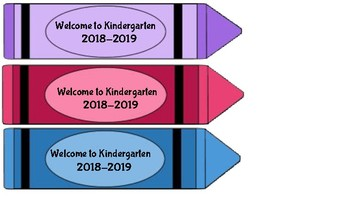Kindergarten Back to School Bookmarks