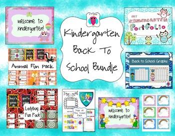 Kindergarten Back to School Bundle-8 resources