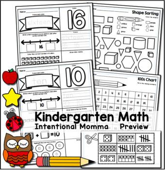 Kindergarten Back-to-School Bundle