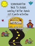 Kindergarten Back to School Counting & Letter Sounds Cut &