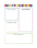 Kindergarten Back to School Letters