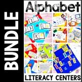 Kindergarten Beginning of the Year Literacy Center Bundle-- 9 Alphabet Centers