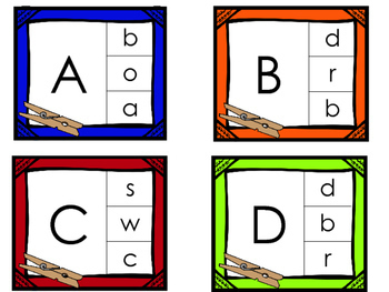 Kindergarten Beginning of the Year Literacy Center Bundle-- 9 Alphabet Centers
