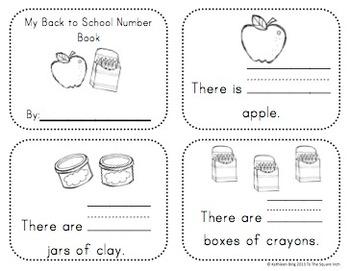 Kindergarten Back to School Math Activities