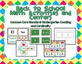 Kindergarten Back to School Math Activities
