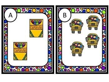 Kindergarten Back to School Math Center - Beginning of the Year - (0-5)