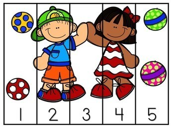 Kindergarten Back to School Math Center - Beginning of the Year - (1-5 and 1-10)