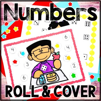 Kindergarten Back to School Math Center - Beginning of the Year - Roll and Cover