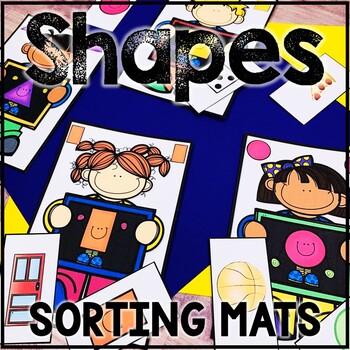 Kindergarten Back to School Math Center - Beginning of the Year - Shape Sort
