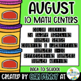 Kindergarten Back to School Math Centers