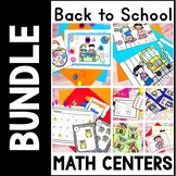 Kindergarten Beginning of the Year Math Centers- 7 Aug. or