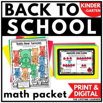 Kindergarten Back to School Math Packet