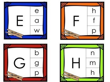 Kindergarten Back to School Math and Literacy Centers - 16 Centers