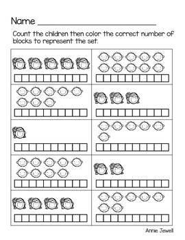 Back to School Kindergarten Math Activities and Worksheets for the Common Core