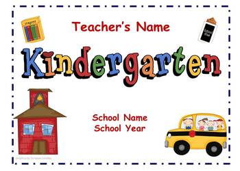Kindergarten Back to School Night Presentation