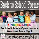 Editable Open House Parent Packet- Kindergarten