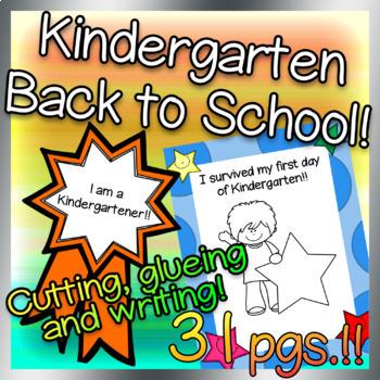 Kindergarten Back to School Printables