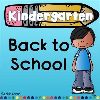 Kindergarten Back to School Packet