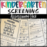 Kindergarten Screening Assessment for Beginning of the Year