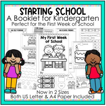 My First Week of School - Back to School - Starting School Booklet. Freebie