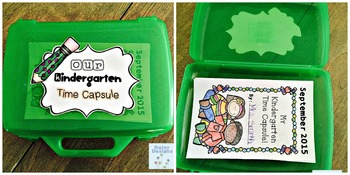 Back to School Kindergarten Time Capsule Book