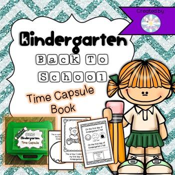 Back to School Kindergarten Time Capsule Book