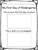 Kindergarten Back to School Writing and Fun Pack NO PREP