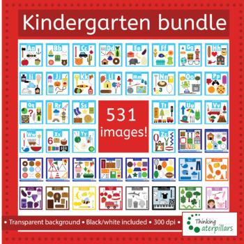 Kindergarten Back to school clip art bundle!