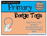 Kindergarten Badge Tags