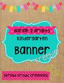 Kindergarten Banner