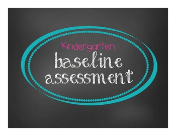 Kindergarten Baseline Assessment