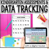 Kindergarten Assessments & Data Tracking for the Year (w/ Digital Tracker)
