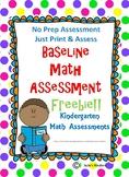 Kindergarten Baseline Math Assessment
