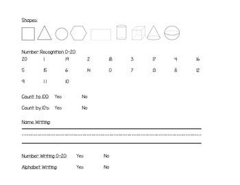 Kindergarten Basic Assessment