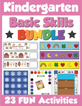 Kindergarten Basic Skills Activities Bundle