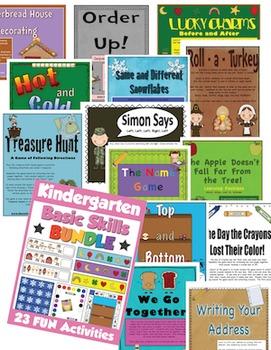 Kindergarten Basic Skills Activities Bundle