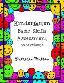 Kindergarten Basic Skills Assessment Worksheets