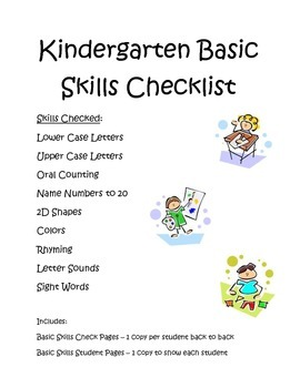 Kindergarten Basic Skills Check