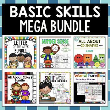 Kindergarten Skills MEGA BUNDLE - Year Long