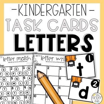 Kindergarten Bats Task Cards Numbers Letter Matching and Writing