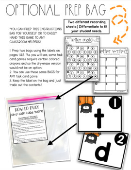 Uppercase and Lowercase Letters Task Card Game {Bat Theme}