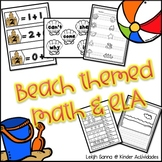 Kindergarten Beach Themed Math and ELA