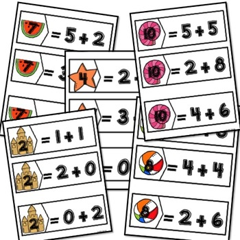 Kindergarten Beach Themed Math and SLA in Spanish