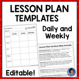 Daily, Weekly, Small Group Reading & Guided Math Lesson Plan Templates
