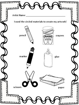 Kindergarten Beginner Art Materials