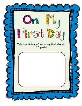1st Grade - Year Long Memory Book!