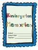 Kindergarten -Year Long Memory Book!