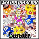 Kindergarten Beginning Sound Center Bundle - 9 First Sound
